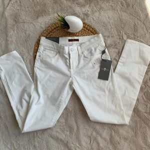 7 For All Man Kind Roxanne Skinny Jeans White10